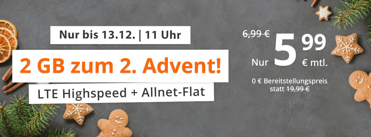 2 GB zum 2. Advent