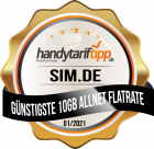 Günstigste 10 GB Allnet Flatrate sim.de – handytariftipp.de