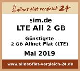 allnet-flat-vergleich-24.de - Günstigste 2 GB Allnet Flat (LTE)